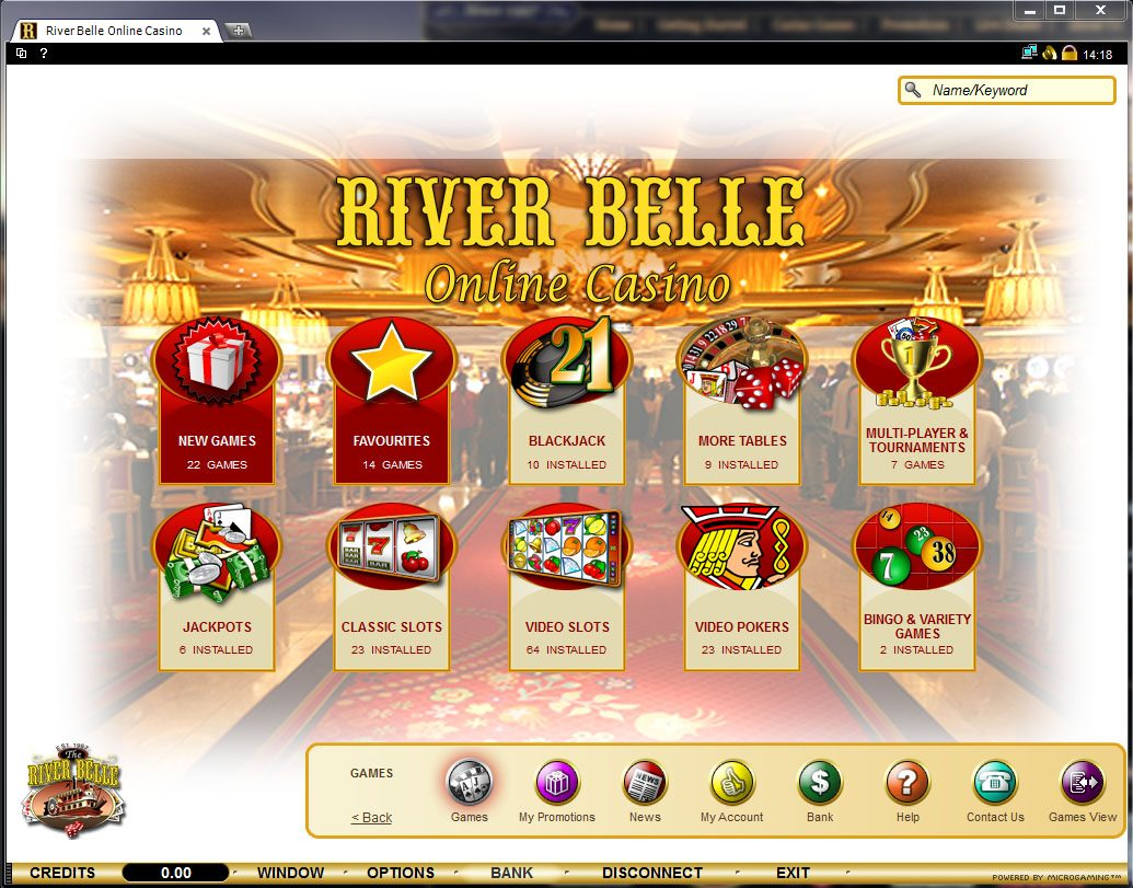 river belle online casino free